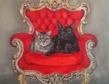 Cats on a Throne
